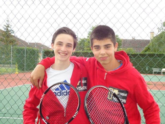 Equipe tournoi Jeunes  Nathan et Thomas