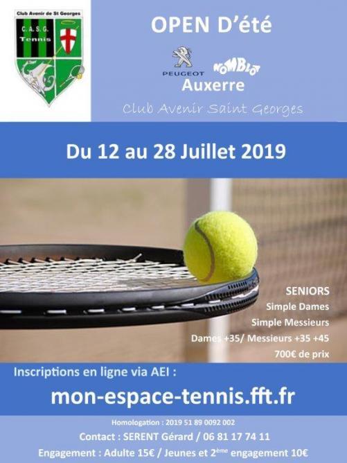 Affiche open tennis 2